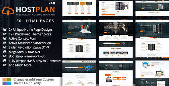 HostPlan – Responsive Domain Hosting HTML5 Template