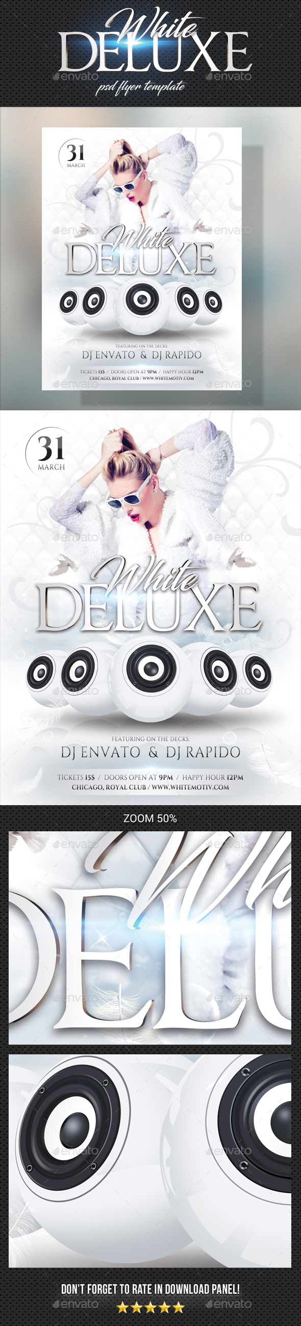White Deluxe Flyer - Clubs & Parties Events
