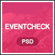 Eventcheck - Meeting, Conference & Event PSD template Nulled