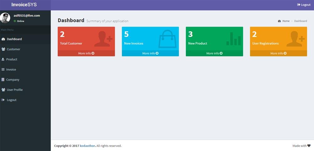 easy invoice generator aspnet mvc by kodauthor codecanyon