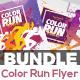 Color Run Festival Flyers Bundle