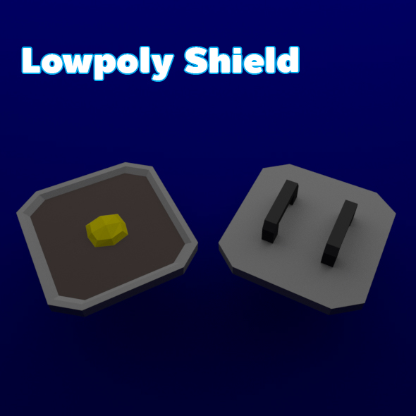 Lowpoly Shield - 3DOcean Item for Sale