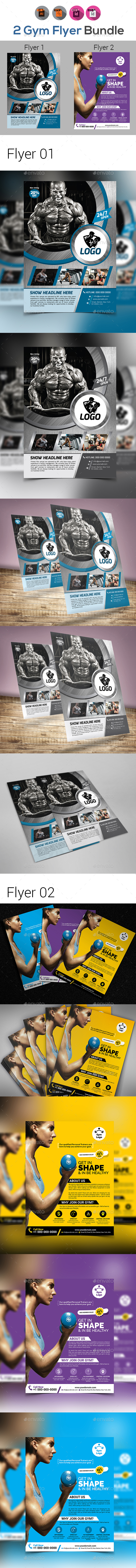 Fitness | Gym | Sports Flyers Bundle - Sports Events