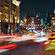 Moscow night view from Tverskaya street toward Kremlin. - VideoHive Item for Sale