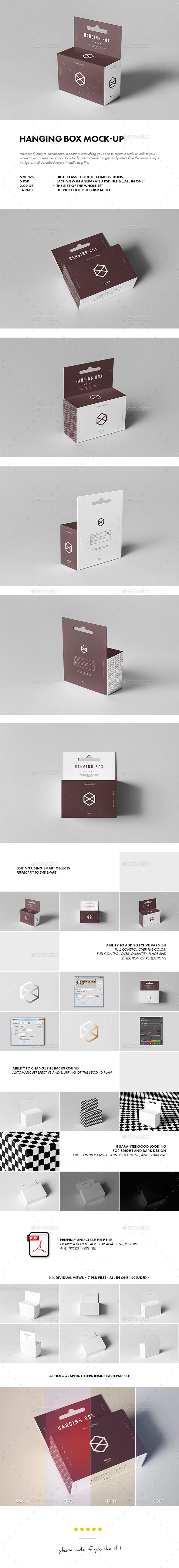 Hanging Box Mock-up - Miscellaneous Packaging