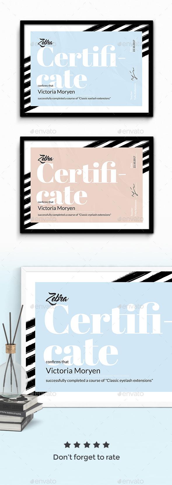 Zebra Certificate - Certificates Stationery