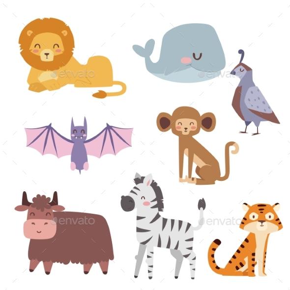 Zoo Cartoon Animals - Animals Characters