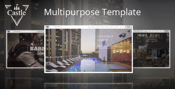 Castle - Multipurpose template for hotel, barbershop - Retail Site Templates