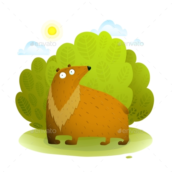 Bear in Wild Nature - Animals Characters