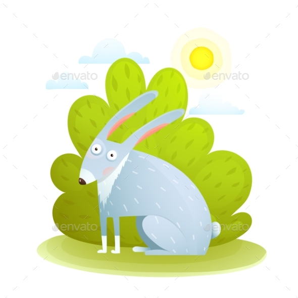 Kids Rabbit in Forest - Animals Characters