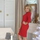 Beautiful Blonde in Red Dress Posing for the Camera - VideoHive Item for Sale