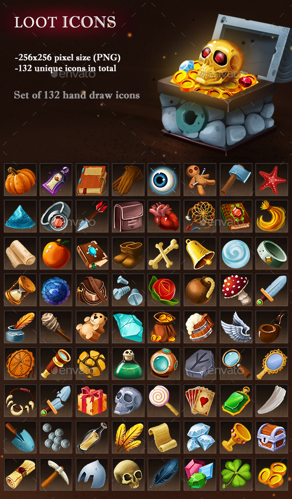Loot Icons - Miscellaneous Game Assets