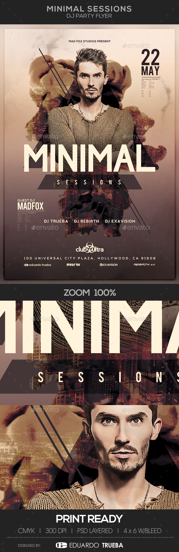 Minimal Sessions Dj Party Flyer - Clubs & Parties Events