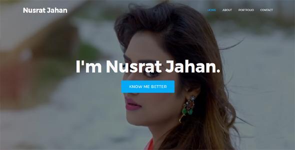 Nusrat – Personal Portfolio HTML Template