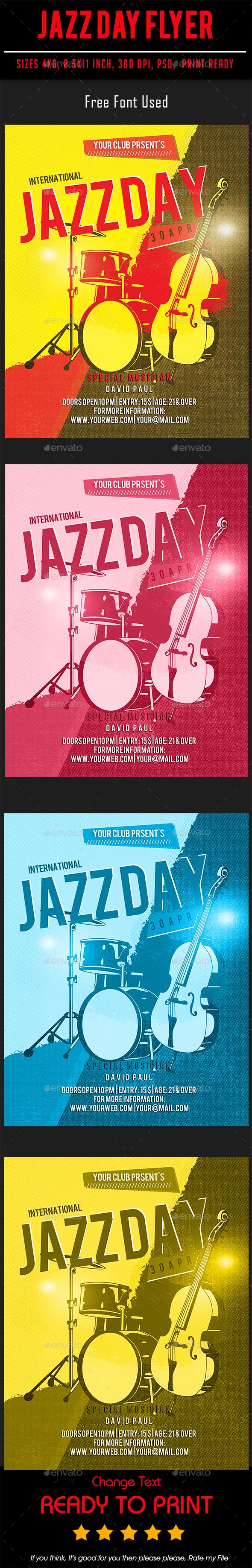 Jazz Day Flyer - Flyers Print Templates