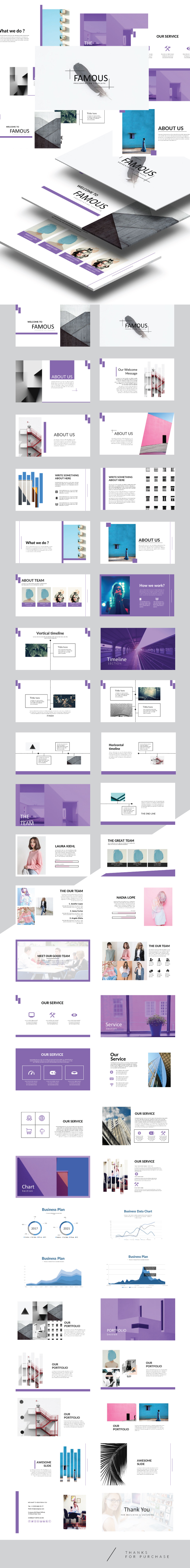 Famous - Keynote Presentation Template - Creative Keynote Templates