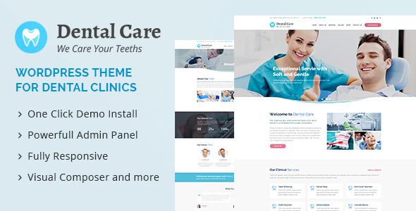 Dental Care : Medical & Dental WordPress Theme