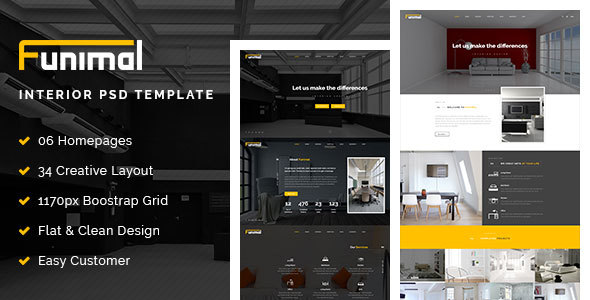Funimal – Premium Furniture/Interior PSD Template