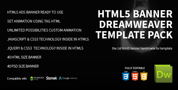 HTML5 Banner Dreamweaver Bundle Template - CodeCanyon Item for Sale