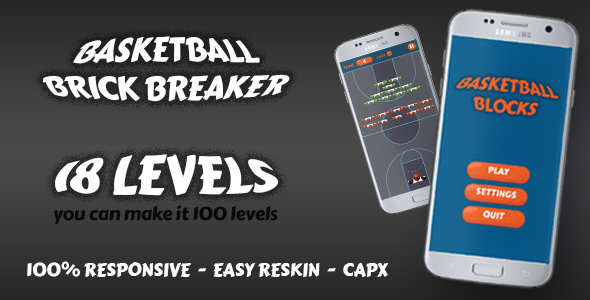 Basketball Brick Breaking Game - CodeCanyon Item for Sale