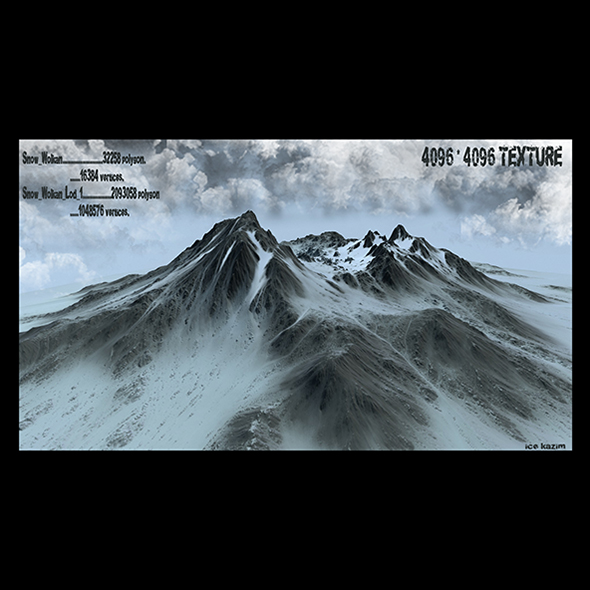 snow mountain - 3DOcean Item for Sale