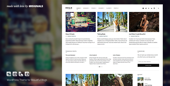 Solo - WordPress Theme for Beautiful Blogs - Blog / Magazine WordPress