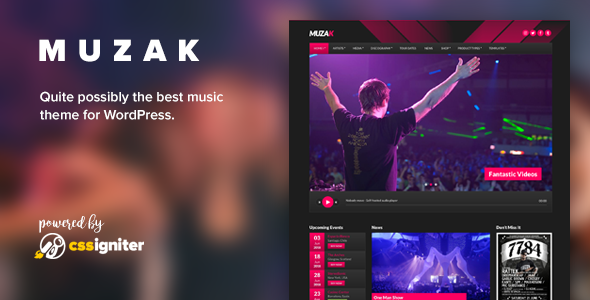 Muzak - Music WordPress theme - Music and Bands Entertainment