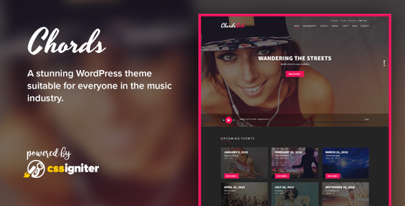 Chords - Music / Artist / Radio WordPress theme - Music and Bands Entertainment