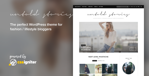 Fashion Blog Theme - Untold Stories - Blog / Magazine WordPress