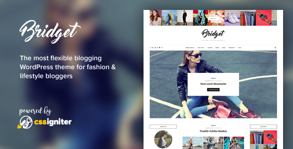 Bridget - Fashion / Lifestyle Theme for WordPress - Personal Blog / Magazine