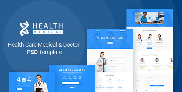 Health Care | Medical & Doctor PSD Template