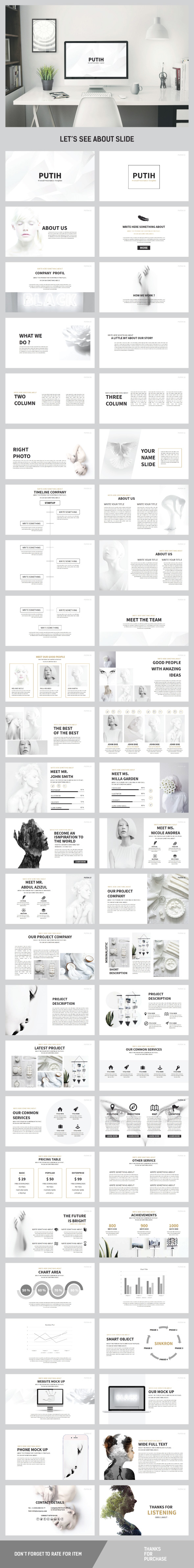 PUTIH Keynote Multipurpose - Creative Keynote Templates