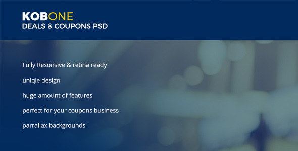 KOBONE / COUPONS & DEALS PSD Template