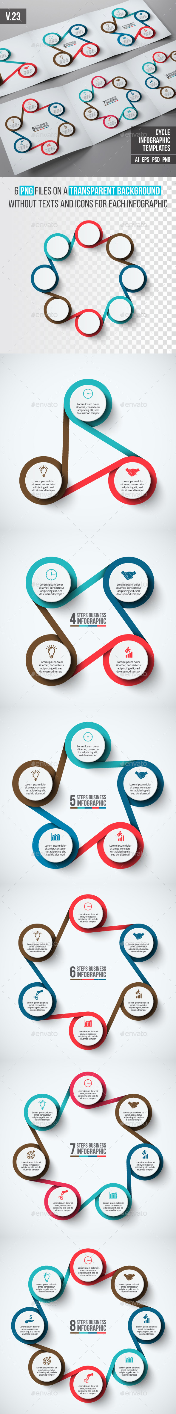 Infographics template set v.23 - Infographics