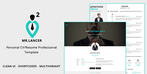 Mr.Lancer 2 Personal CV/Resume template