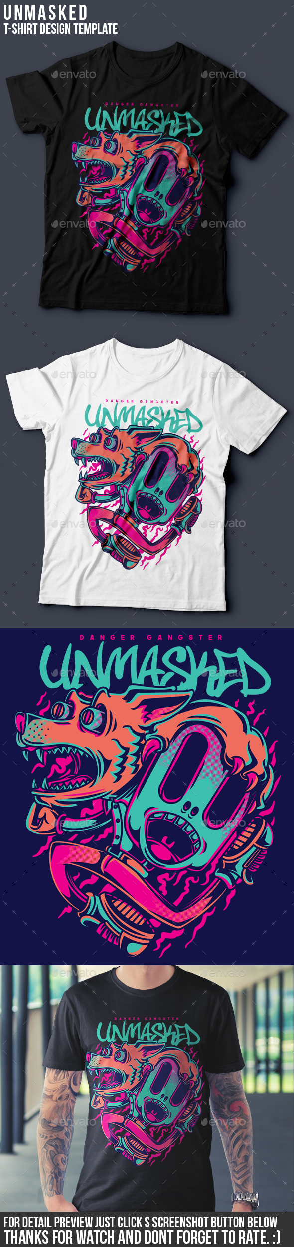 Unmasked T-Shirt Design - Funny Designs