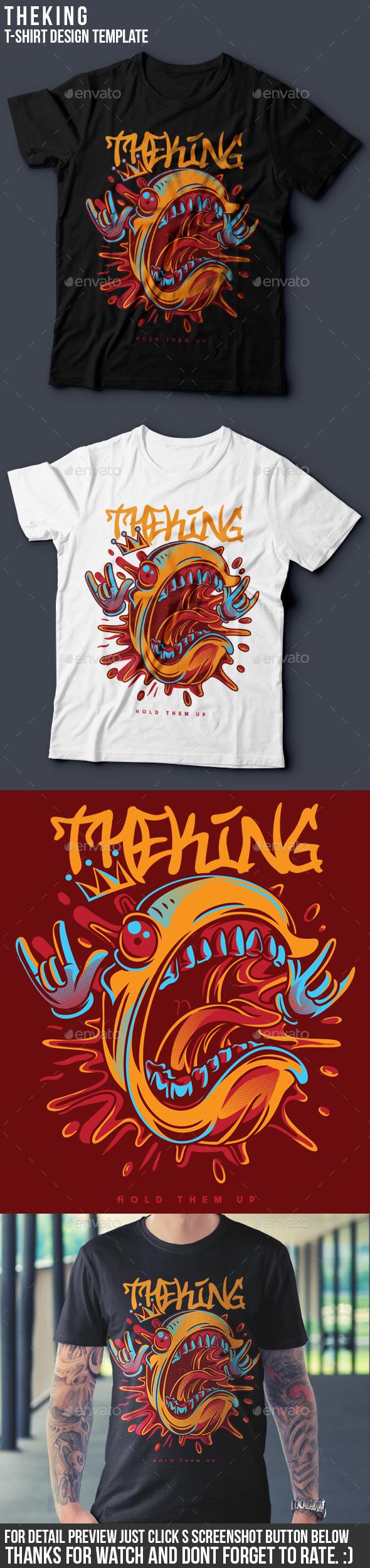 The King T-Shirt Design - Clean Designs