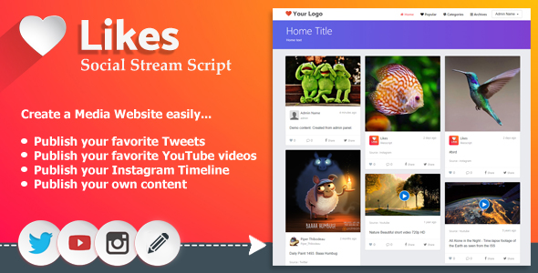 Likes - Social Stream Script - CodeCanyon Item for Sale