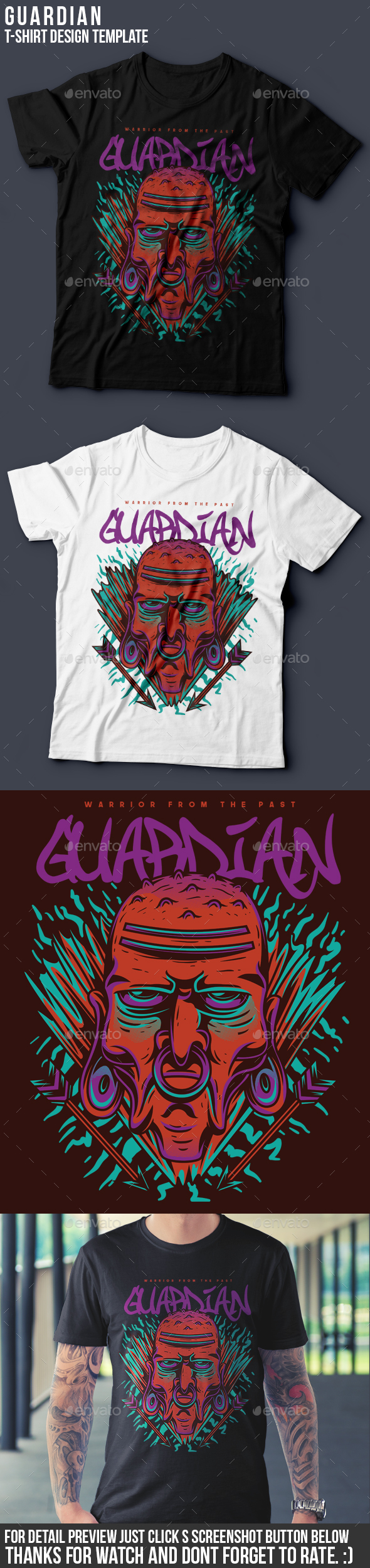 Guardian T-Shirt Design - Grunge Designs