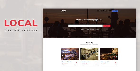 Local | Directory Listings Template - Preview Image