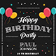 Chalkboard Birthday Invitation - GraphicRiver Item for Sale