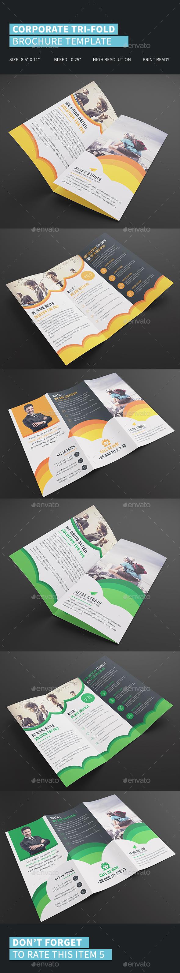 Corporate Tri-Fold Brochure Template - Corporate Brochures
