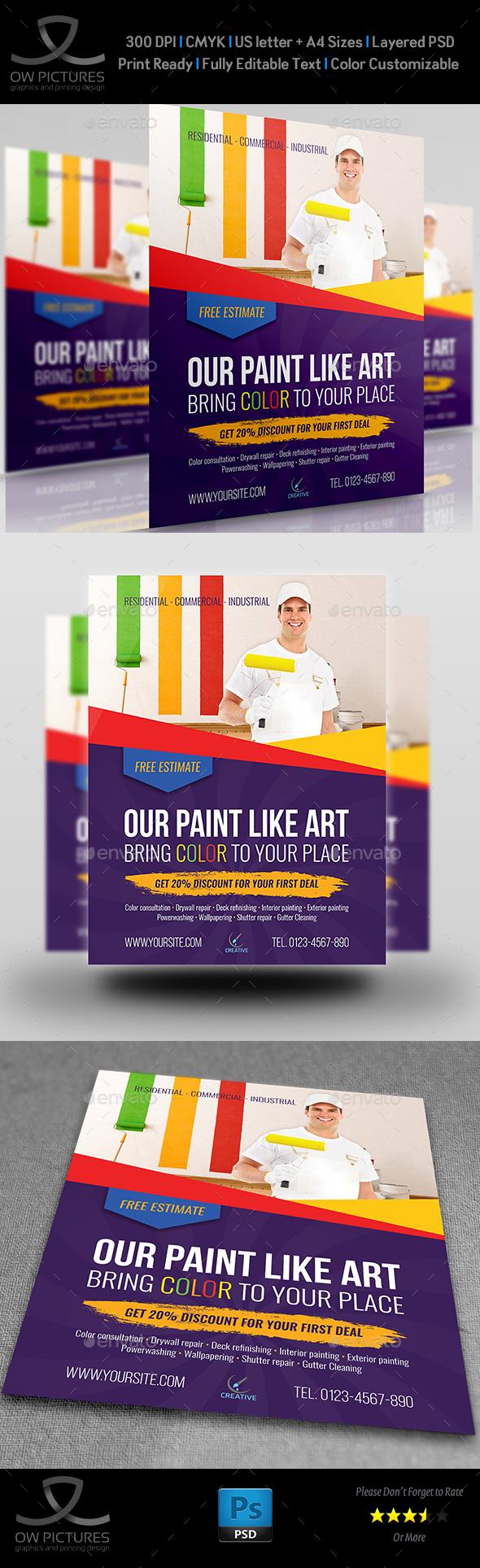 Painter Flyer Template - Flyers Print Templates
