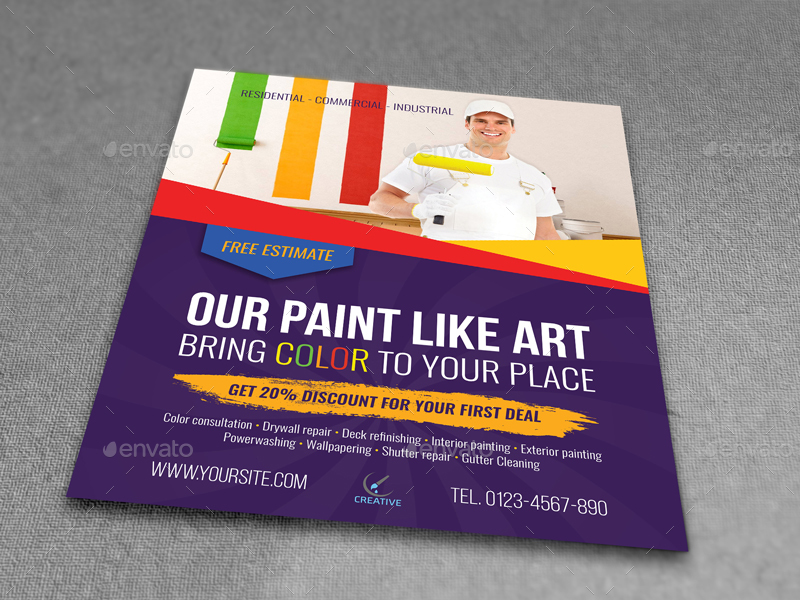 Painter Flyer Template By Owpictures Graphicriver