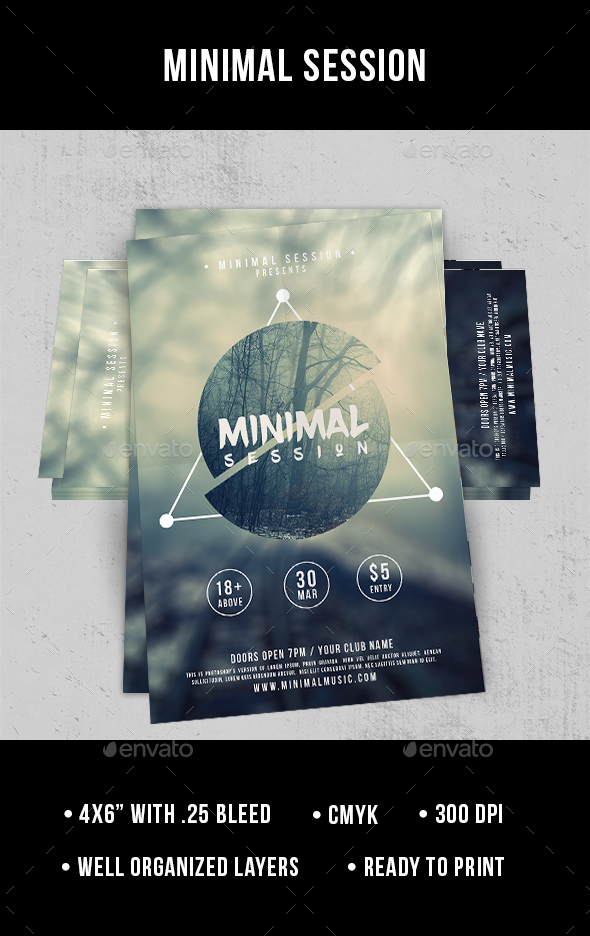 Minimal Session - Flyer - Clubs & Parties Events