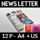 Multipurpose Newsletter - 12 Pages - GraphicRiver Item for Sale