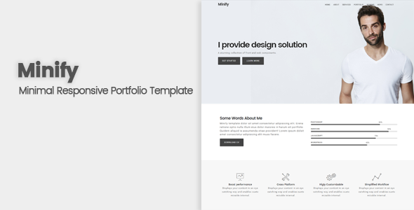 Minify Responsive Minimal Portfolio Template