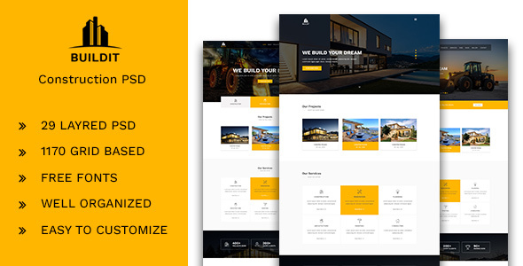 Buildm – Construction PSD Template