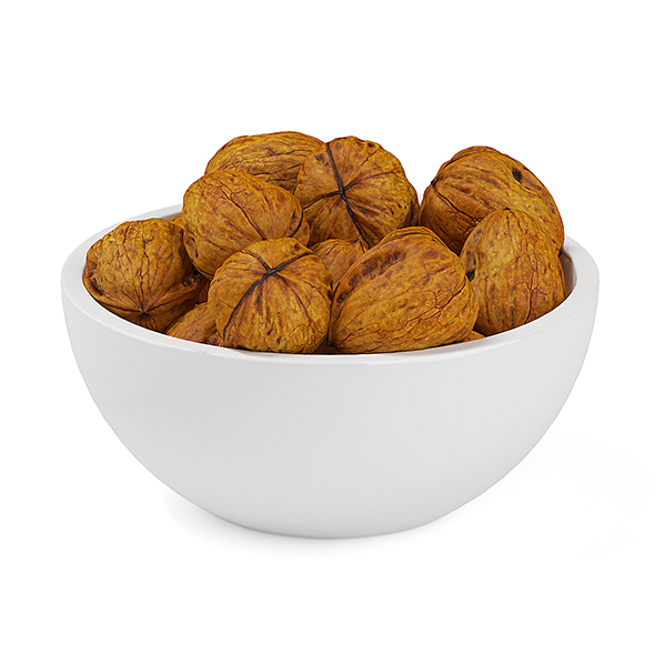 Bowl of Walnuts - 3DOcean Item for Sale