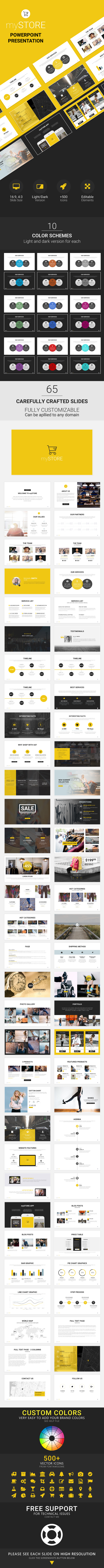 myStore - Powerpoint Presentation - Business PowerPoint Templates